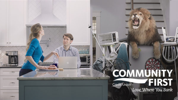 Composited TV Commercial for Community First Credit Union