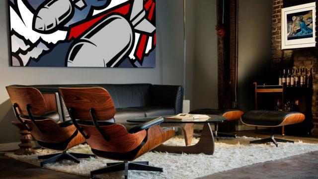 FUGO-Studios-Atlanta-Video-Branding-Agency-Sound-Stage-04-Peter-Ferrari-Mural-Eames-Lounge