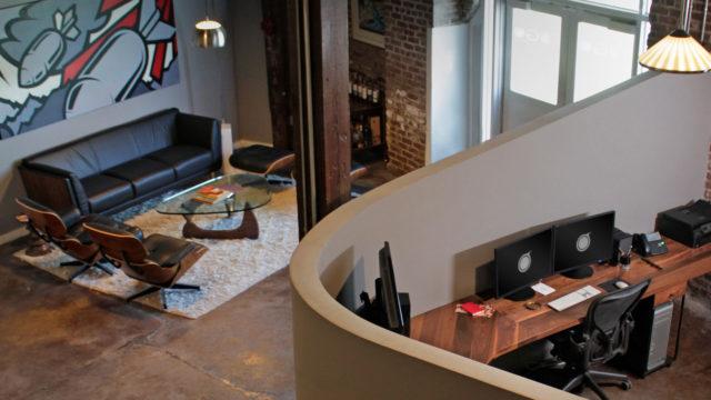 FUGO-Studios-Atlanta-Video-Branding-Agency-Sound-Stage-05-Peter-Ferrari-Artwork-Jack-Elis-Custom-Wood-Desks